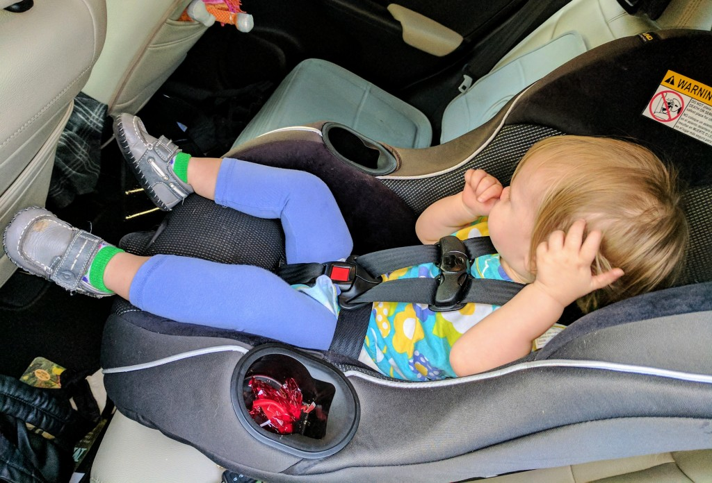 We spend a lot of our together-time today with you in this car seat.