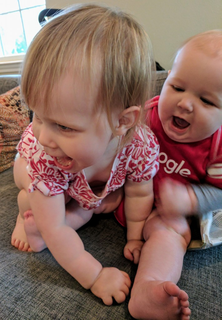 We love watching you two play together, even though we have to constantly remind Annie not to step on you.