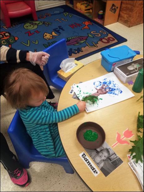 Annie paints